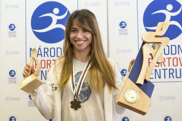 Klaudia Medlová získala na nedávnych majstrovstvách sveta bronzovú medailu.