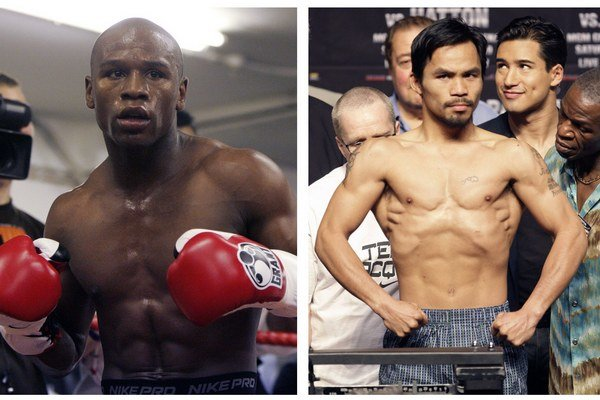 Súboj medzi Floydom Mayweatherom (vľavo) a Mannym Pacquiaom by mal byť najlukratívnejším boxerským zápasom všetkých čias.