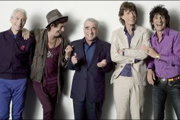 Scorsese počas nakrúcania s Rolling Stones.
