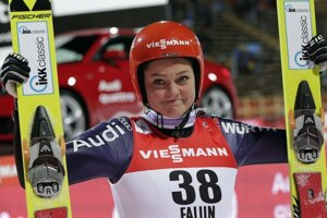 Nemka Carina Vogtová sa teší zo zisku zlatej medaily.