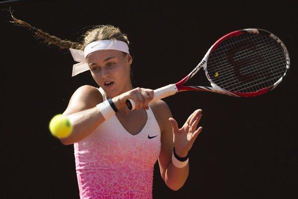 Anna Karolína Schmiedlová sa prvýkrát v kariére prebojovala do finále turnaja WTA.