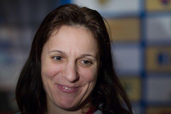 Najskúsenejšia slovenská reprezentantka Katarína Dubajová.