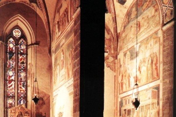 Kaplnka Peruzziovcov v kostole Santa Croce skrývala pôvodnú podobu Giottových malieb.