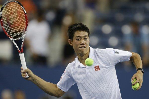 Kei Nišikori sa po výhre nad Stanom Wawrinkom prvý raz v kariére prebojoval do semifinále grandslamového turnaja.