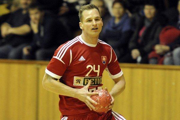 Martin Straňovský v reprezentačnom drese.
