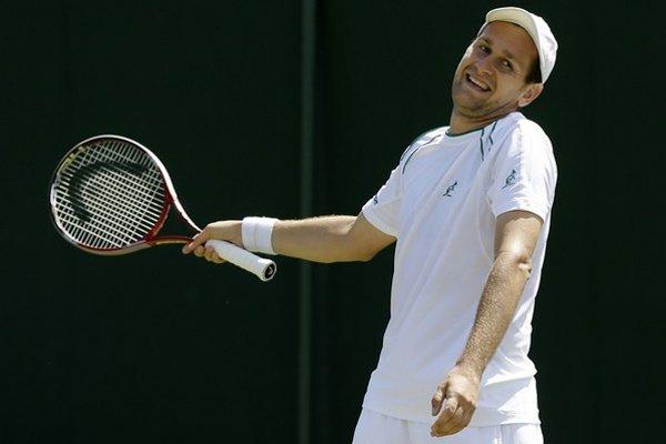 Karol Beck počas Wimbledonu 2012.