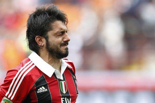 Gennaro Gattuso dlhé roky pôsobil v AC Miláno.