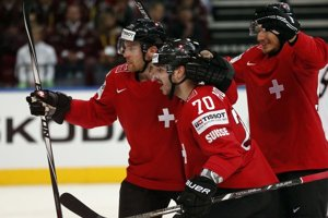 Hokejisti Švajčiarska - ilustračná fotografia.