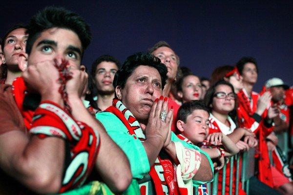 Fanúšikovia Benfiky na finále EL.