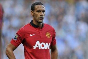 Rio Ferdinand ešte v drese Manchestru United.
