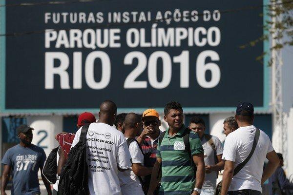 Na stavbe olympijskeho parku sa nepracuje.