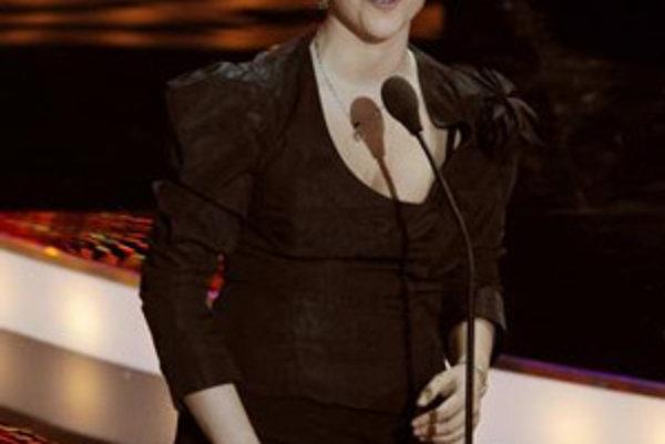 Katka Knechtová na slávnostnom udeľovaní výročných cien Osobnosť televíznej obrazovky - OTO 2007.