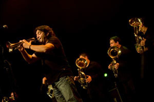 Koncert skupiny Boban i Marko Markovic Orkestar v bratislavskom Divadle Aréna. Bratislava, 30. január 2008.