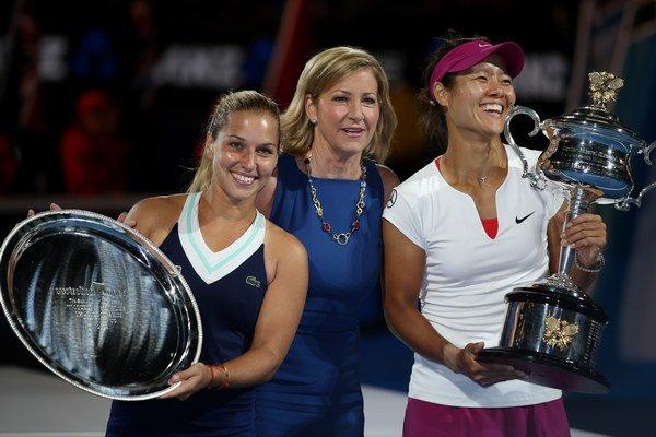 Dominika Cibulková, Chris Evertová a Na Li po finále Australian Open.