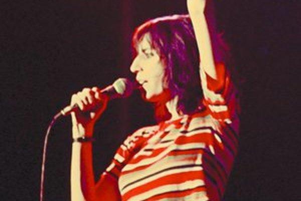 Patti Smith na koncerte v Kodani (1976).