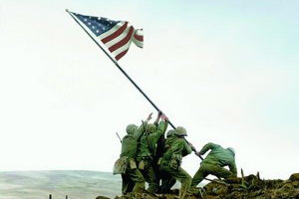 Ikonický záber vo filme Zástava našich otcov.