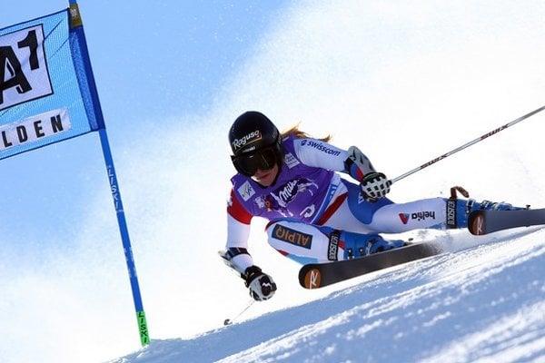 Švajčiarska lyžiarka Lara Gutová.