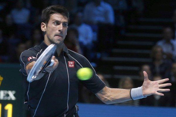 Novak Djokovič v prvom sete finále proti Nadalovi, ktorý vyhral 6:3.