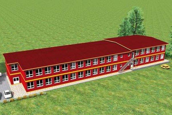 Projekt novej kontajnerovej školy v časti Čierna Voda.