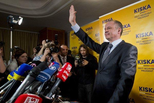 Novozvolený prezident Andrej Kiska.