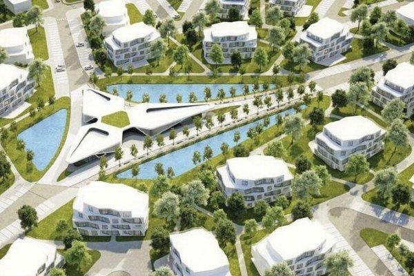 Výstavba bytoviek je súčasťou väčšieho developerského projektu Tri vody.