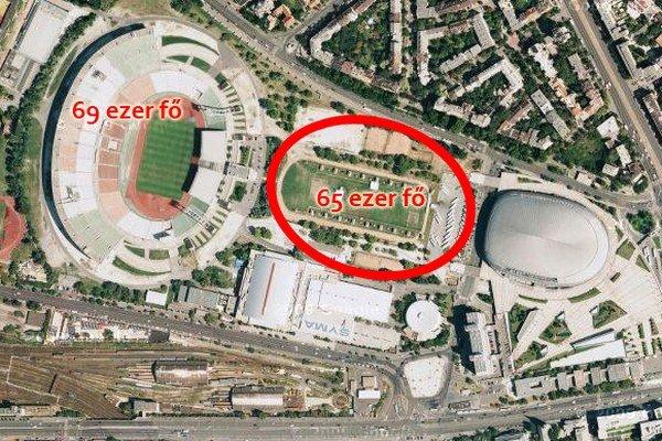 Nový štadión má byť vybudovaný hneď vedľa súčasného Puskásovho štadióna.