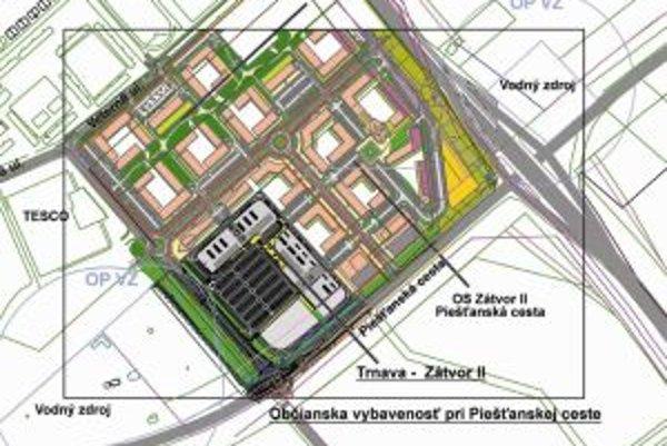 Obchodné centrum Vodáreň sa má začať stavať už tento rok. Projekt ráta s dvomi objektmi.