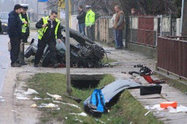 Záber z miesta nehody v Dubovanoch.