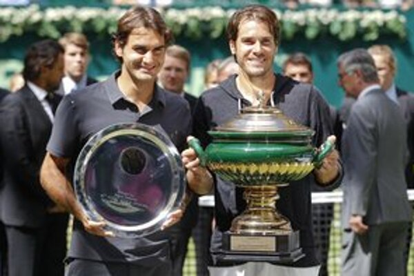 Tommy Haas s Rogerom Federerom.