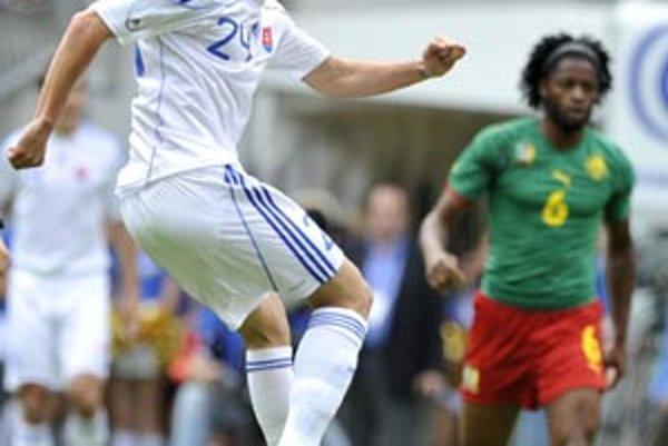 Kamil Kopúnek zažiaril v zápase s Kamerunom.