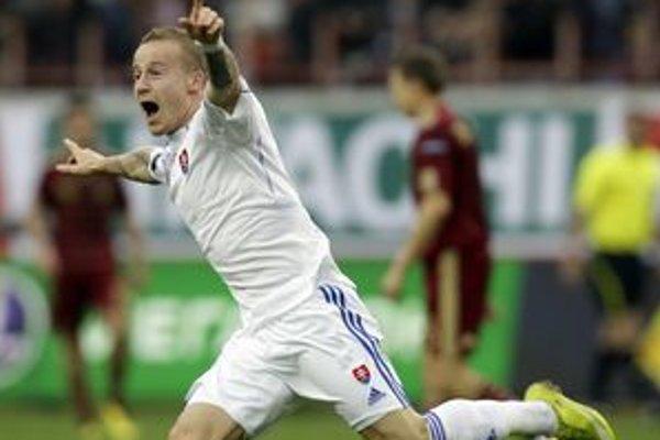 Miroslav Stoch dal gól Rusom v Moskve.