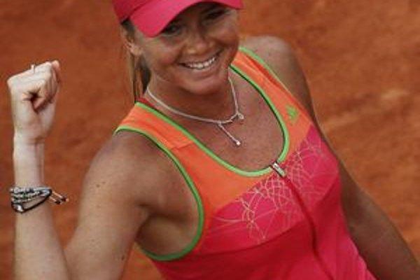 Daniela Hantuchová sa postarala o najväčšie prekvapenie  na turnaji Roland Garros, zdolala jednotku Wozniacku.