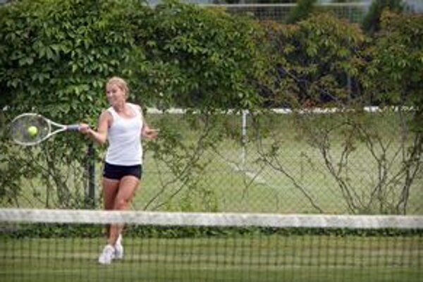 Dominika Cibulková sa pripravovala na Wimbledon aj na kurtoch v Kopčanoch pri Holíči.
