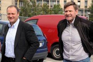 Juraj Bakoš (vľavo) a hlavný tréner Košičanov Rostislav Čada.