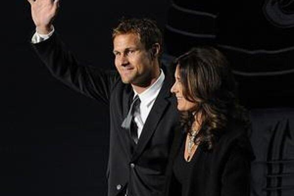 Marcus Näslund s manželkou Lottou.