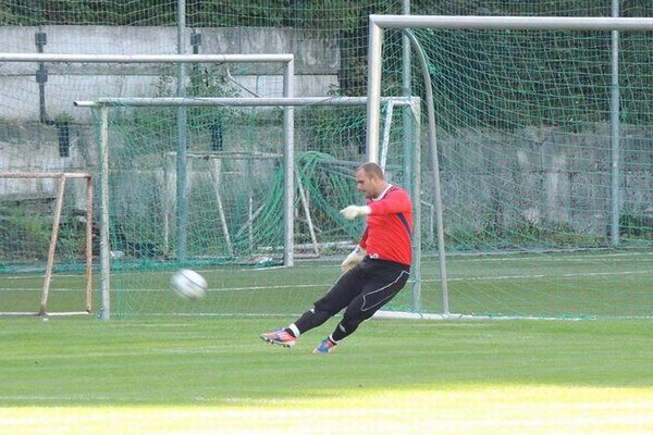 Brankár Martin Kopčan bol smutným hrdinom zápasu v Tr. Teplice - Beluša (0:1).
