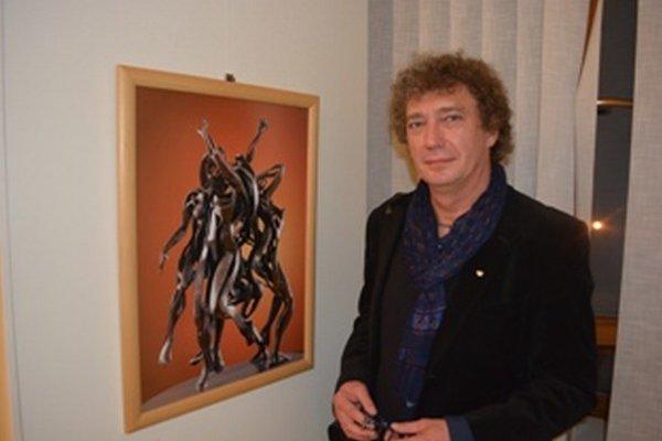 Sochy Vojtecha Kokeša vznikajú z cínových a bronzových plátov.