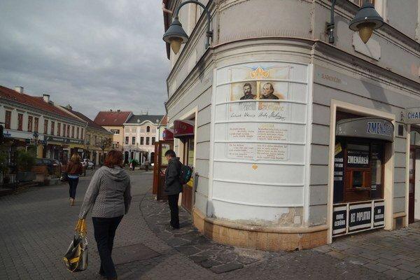 Mestské zásahy označujú názvy ulíc.