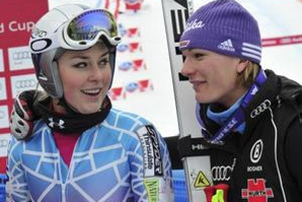 Lindsey Vonnová s Mariou Rieschovou.