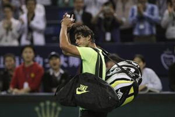 Rafael Nadal sa priskoro lúčil s turnajom v Šanghaji.