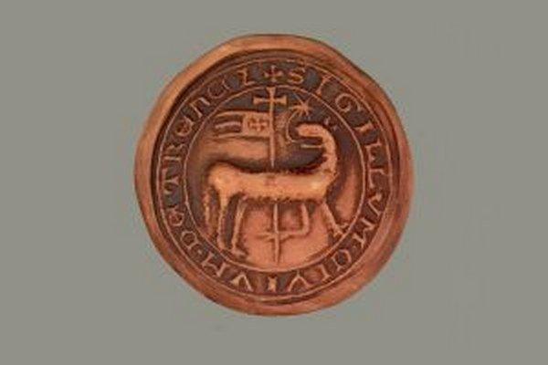 Najstaršia pečať Trenčína na listine z roku 1381