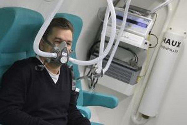 Liečba kyslíkom v Trenčianskej nemocnici.