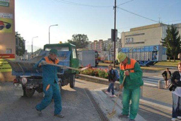 Jarmočný odpad likvidujú každoročne zamestnanci TSM