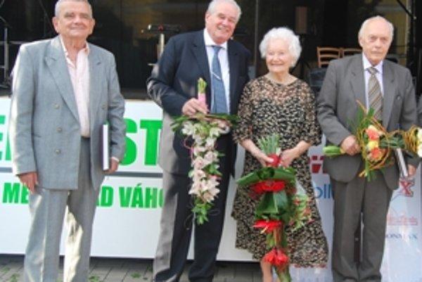 Zľava: Juraj Koutný, Pavol Mešťan, Elena Barátová a Pavol Schultz.