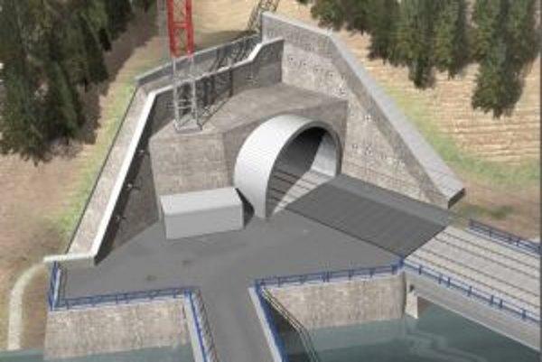 Tunel pod Tureckým vrchom bude súčasťoumodernizovanej železničnej trate v úseku Nové Mesto nad Váhom - Zlatovce.
