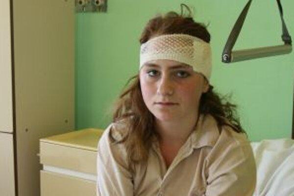 Postrelená Ivana K.(13)má ranu nad ľavým uchom.