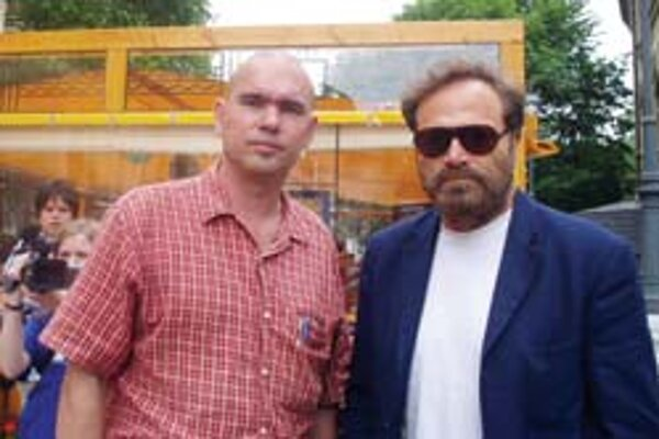 Martin Šimovec (vľavo) s hercom Francom Nerom.