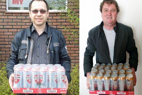 Vo 4. kole si kartón piva rozdelili dvaja výhercovia - Ján Šiška (vľavo) a Miroslav Drahoš.