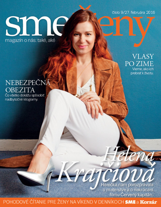 Herečka Helena Krajčiová na titulke magazínu smeŽeny