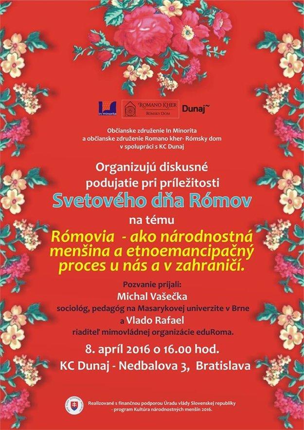 In Minorita a Romano kher pripravili na piatok 8. apríla o 16-tej hodine v KC Dunaj diskusiu s názvom Rómovia ako národnostná menšina.